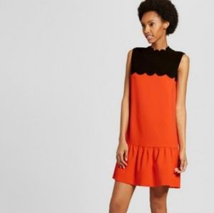 Victoria Beckham Target Dress Orange Black Medium